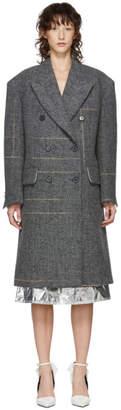 Calvin Klein Grey Oversized Double-Breasted Coat