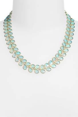 Melinda Maria Opal Leaf Necklace