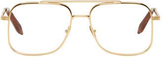 Victoria Beckham Gold Navigator Glasses
