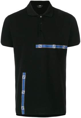 Fendi logo patch polo shirt