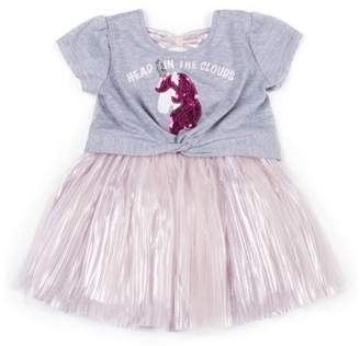 7c9f21cad2 Little Lass Short Sleeve Tulle Skirt Dress (Baby Girls & Toddler Girls)