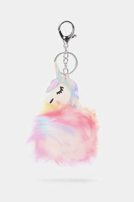Ardene Unicorn Pompom Keychain