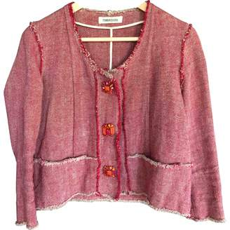 No Name Red Linen Jacket for Women