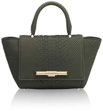 Amanda Wakeley Mini Newman Khaki Python Bag
