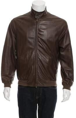 Loro Piana Leather Cafe Racer Jacket
