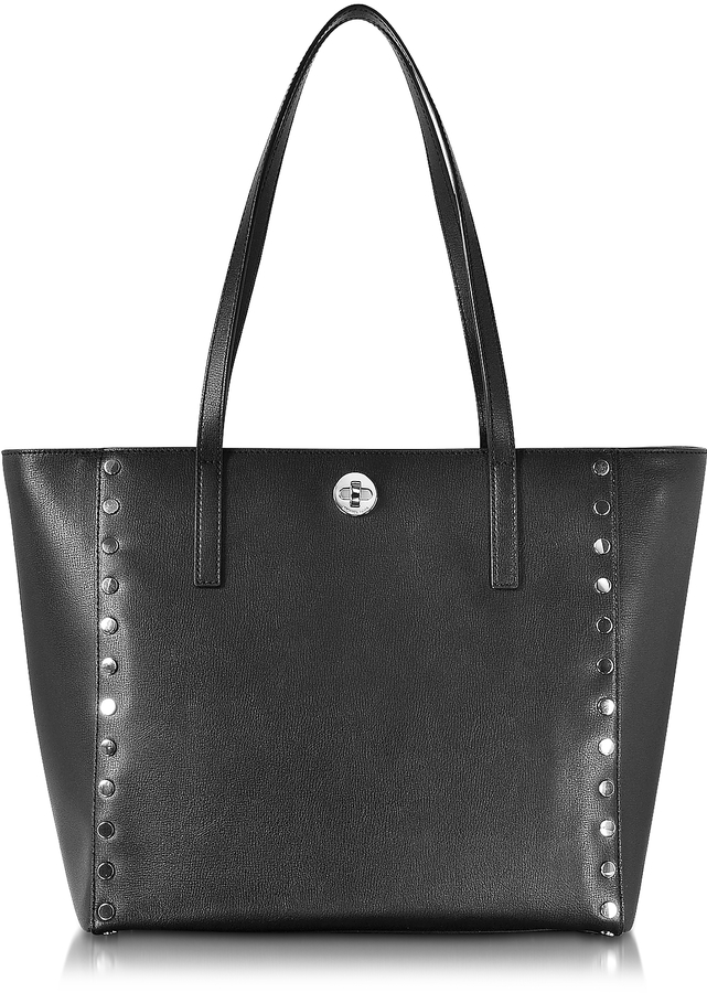 MICHAEL Michael Kors Michael Kors Black Studded Leather Rivington Large Tote