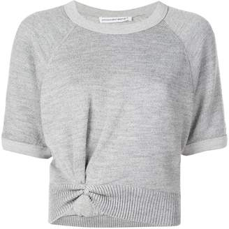 Alexander Wang double layer cropped sweater