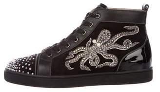Christian Louboutin Louis Flat Octopus Sneakers