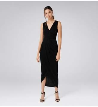 Ever New Amelia Drape Glitter Dress