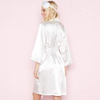 The Collection - White 'Bride' Dressing Gown And Eye Mask