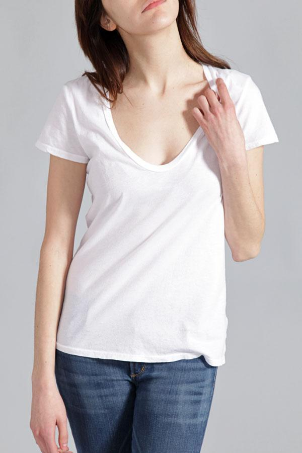 James Perse Short Sleeve Casual Tee In White
