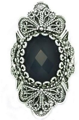 Artisan Crafted Sterling Ornate Design GemstoneRing