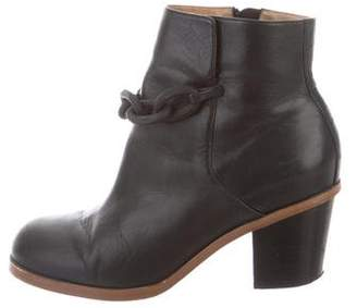 MM6 MAISON MARGIELA MM6 by Maison Martin Margiela Chain-Link Leather Ankle Boots