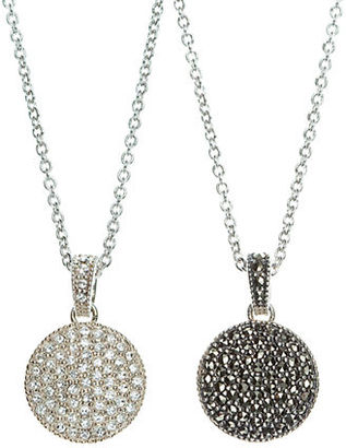 Judith Jack Crystal and Marcasite Pendant Necklace $100 thestylecure.com