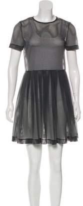 Opening Ceremony Semi-Sheer Mini Dress Grey Semi-Sheer Mini Dress