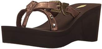 Volatile Women's Beehive Wedge Sandal 8 B US