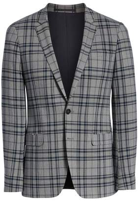 Topman Skinny Fit Plaid Suit Jacket