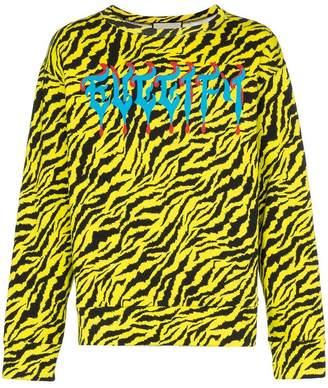 Gucci Guccify zebra print cotton sweatshirt