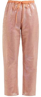 Ashish Sequin Embellished Drawstring Trousers - Womens - Beige