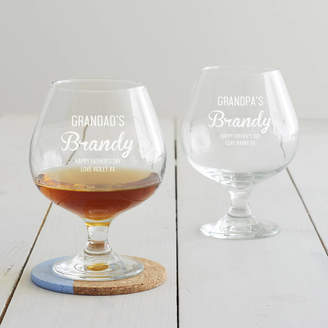 Becky Broome Personalised Brandy Glass For Grandad