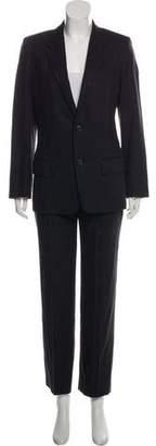 Calvin Klein Collection Pin-Striped Wool Pantsuit