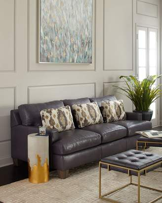 "Bernhardt Denton Leather Sleeper Sofa 86"""