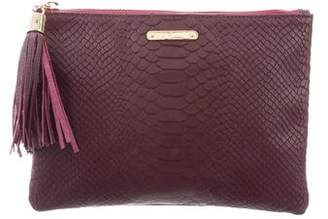 GiGi NY Embossed Leather Clutch