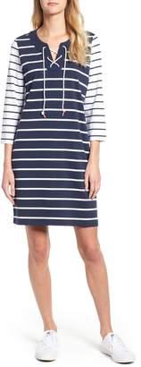 Tommy Bahama Floricita Lace-Up Stripe Shift Dress