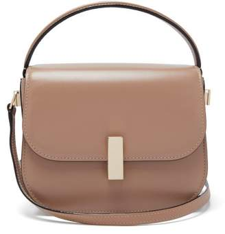 Valextra Iside Grained Leather Cross Body Bag - Womens - Beige