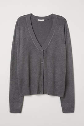 H&M Fine-knit Cardigan - Gray