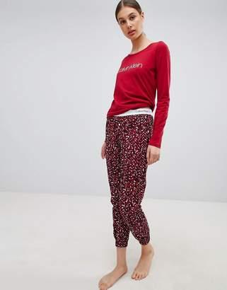 Calvin Klein Logo Long Sleeve Pajama Gift Set