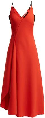 Roland Mouret Hooper panelled wool-crepe midi dress