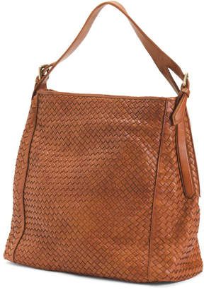 Made In Italy Woven Leather Hobo