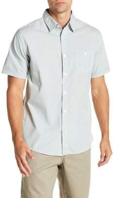Weatherproof Short Sleeve Front Button Print Regular Fit Woven Shirt