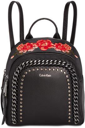 Calvin Klein Samira Pebble Small Backpack $288 thestylecure.com