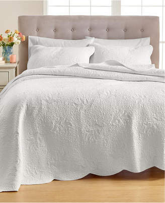 Martha Stewart Collection Stenciled Leaves Twin Quilt