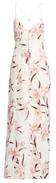 Zimmermann Corsage Linen Orchid Maxi Dress