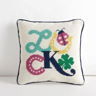 Pottery Barn Teen Lucky Clubhouse Needlepoint Pillow