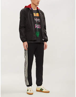 Gucci Logo-print shell windbreaker jacket