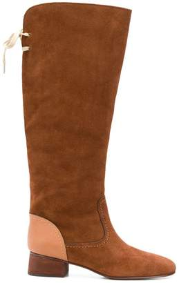 See by Chloe back bow fastened boots