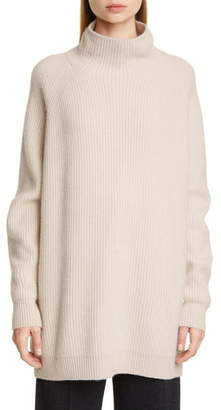 Max Mara Disco Oversize Funnel Neck Wool & Cashmere Sweater