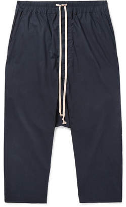 Rick Owens Cropped Cotton Drawstring Trousers
