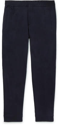 Ermenegildo Zegna Tapered Cotton and Silk-Blend Jersey Sweatpants - Men - Navy
