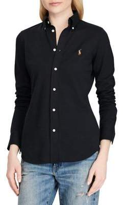 Polo Ralph Lauren Knitted Cotton Oxford Button-Down Shirt