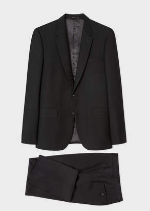 Paul Smith The Soho - Men's Tailored-Fit Black Wool 'A Suit To Travel In'