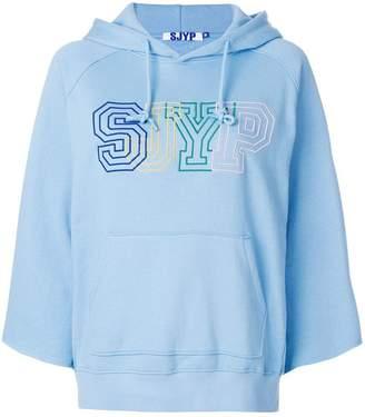 Sjyp logo printed hoodie