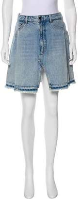 Alexander Wang Denim x Raw Hem Mini Skirt