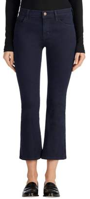 J Brand Selena Mid-Rise Cropped Boot Cut in Bluebird