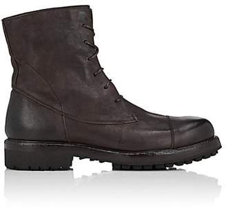 Barneys New York Men's Lug-Sole Washed Leather Boots - Dk. brown