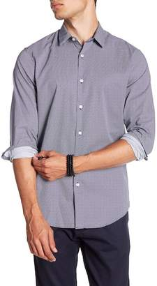 CALIBRATE Micro Patterned Long Sleeve Slim Fit Shirt